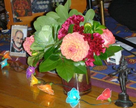 Kirtan Flowers and Neem Karoli Baba