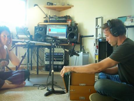 Brenda and Ben in the studio