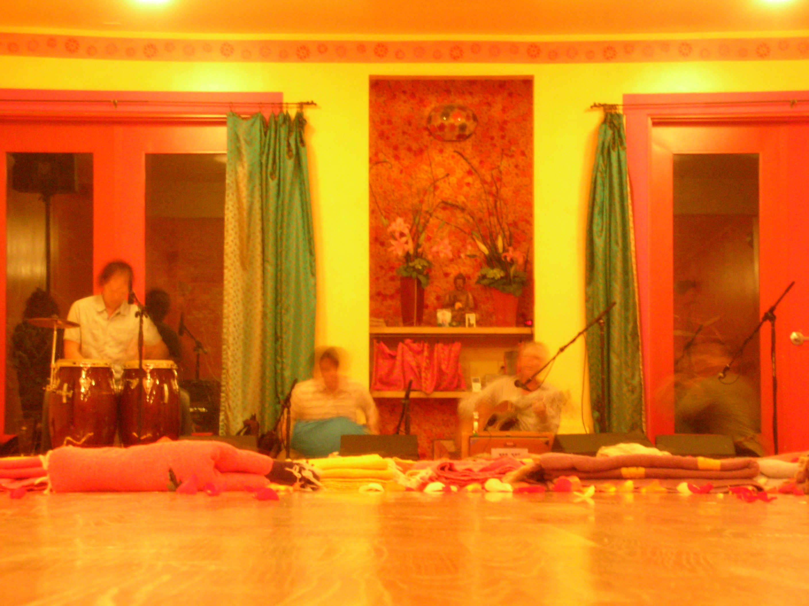 Soundcheck for Jai Uttal's kirtan