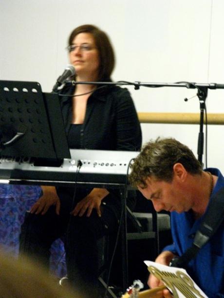 Yoga Festival Toronto - Brenda Manderson keyboards/response vocals and Chris Gartner Bass