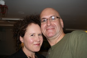 Brenda and Rob Menegoni backstage before Re:Vision