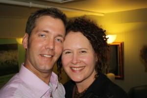 Larry Steel and Brenda backstage
