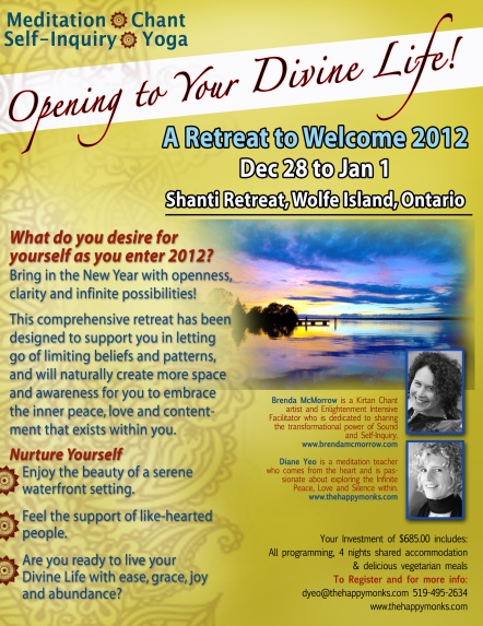 Bringing in 2012 at Shanti Retreat Centre